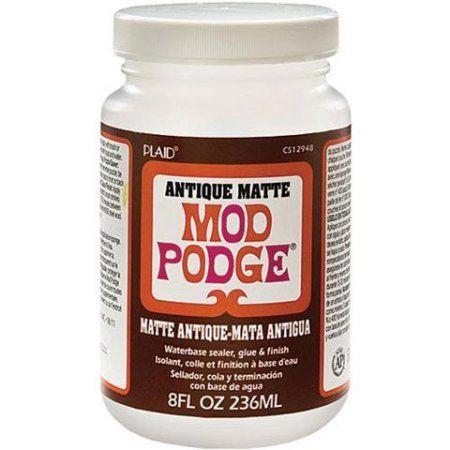 Mod Podge Antique Matte Decoupage Finisher And Sealer 8 Fl Oz Walmart Com Mod Podge Mod Podge Gloss Podge