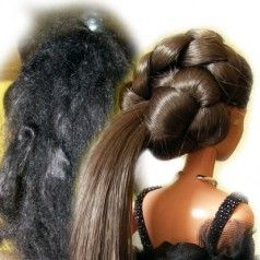 How to restore a second hand Barbie into her former glory without complicated methods. Straightening and perming Barbie hair.