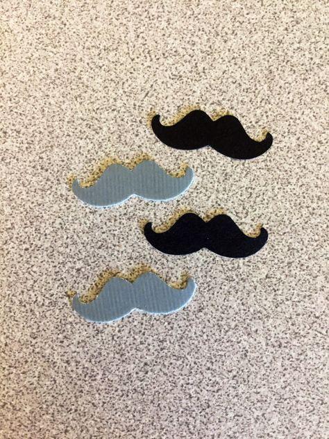 100 Pieces Mustache Black Glitter Paper Confetti