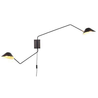 Creswell 2 Light Swing Arm Lamp Plug In Wall Sconce Swing Arm Wall Lamps Swing Arm Lamp