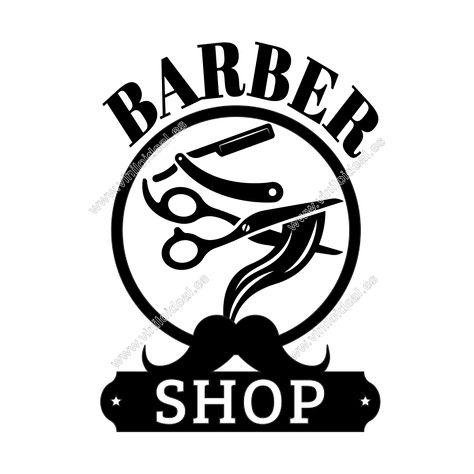 VINILO DECORATIVO ADHESIVO BARBER SHOP,BARBERIA