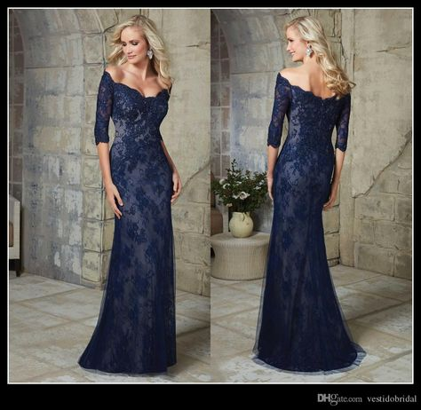 Royal Blue Plus Size Mother Of The Brides Lace Dresses With Long Sleeves Appliques Sheath Floor Length Mother Of Groom Dress Formal Gowns Wedding Dress For Mother Of The Bride Beach Mother Of The Bride Dresses From Alinabridal, $114.33| Dhgate.Com