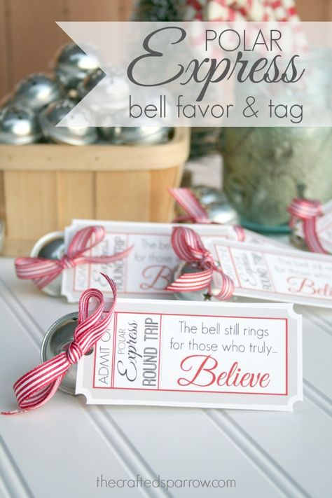 Polar Express Bell Favor Tag