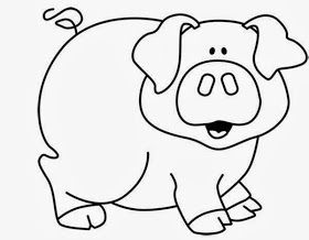 Maestra De Infantil Animales Domesticos Para Colorear Animales Para Imprimir Cerdo Para Colorear Animales Faciles De Dibujar