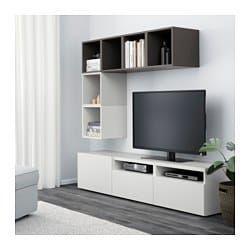 Bestå Eket Tv Storage Combination White Light Gray Dark