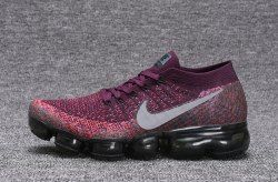 Zero Defect NIKE AIR VAPORMAX FLYKNIT Black Purple women's