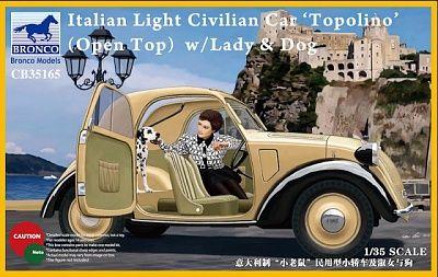 35165 Italian Light Civilian Car 'Topolino' (Open Top) w/Lady | Интернет – магазин «Западный Фронт»