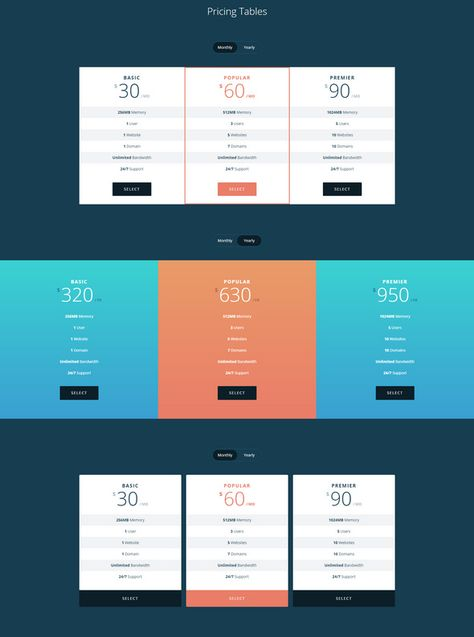 30 FREE pricing tables with css and html templates included for - price chart template