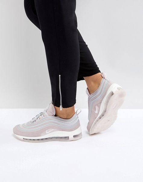 Розовые бархатные кроссовки Nike Air Max 97 Ultra  17 в 2018 г ... 4a5142315b5