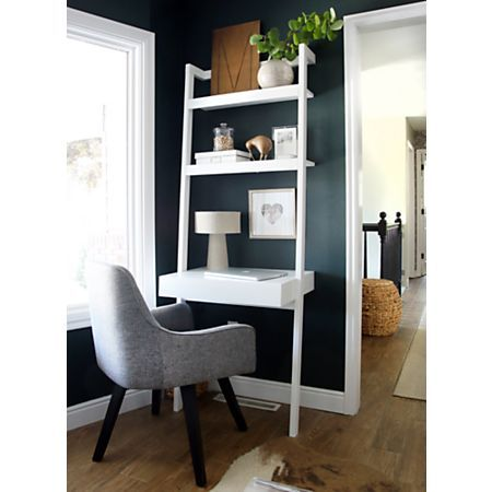 Sawyer White Leaning Desk Reviews Crate And Barrel Modern Home Offices Small Home Offices Small Home Office
