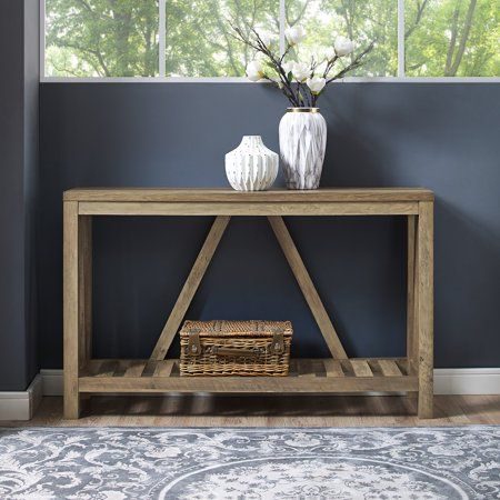 Home Console Table Rustic Entry Reclaimed Barn Wood