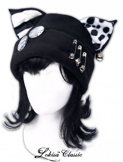 Cat Kitty Twinkle Fleece Hat  Anime Cosplay Punk by LokisaFashion
