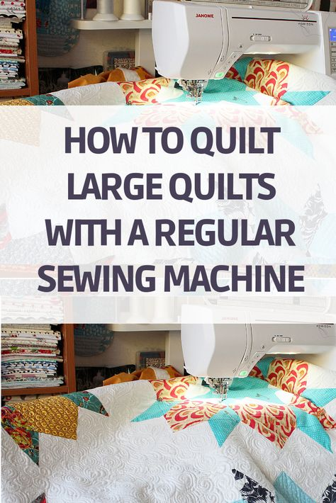 Free Motion Quilting using Regular Sewing Machines - The Little Mushroom Cap Learn how to do free motion quilting using a regular home sewing machine. With the technique, you can quilt large quilt using a regular home sewing machine. Quilting For Beginners, Sewing Projects For Beginners, Quilting Tips, Quilting Tutorials, Quilting Projects, Patchwork Quilting, Quilt Stitching, Machine À Quilter, Machine Quilting Patterns