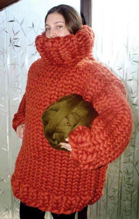 8 kg Turtleneck sweater gigantic monster jumper chunky merino | Etsy