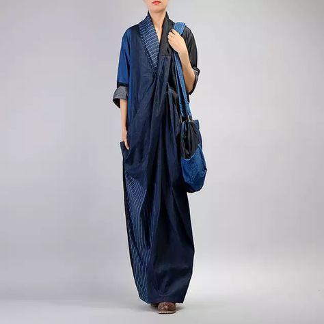Shop Stylish Cross V-neck Denim Paneled Skinny Dress at EZPOPSY.