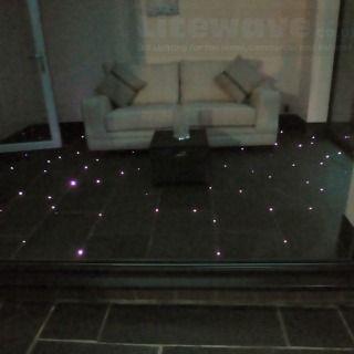 Fiber Optics Set Into A Tiled Floor