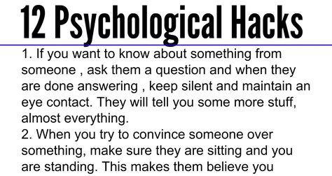 12 Psychological Hacks that Will Help You Gain the Advantage in Social Situations