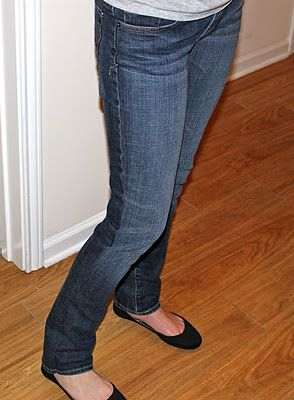 How to make bootcut jeans into skinny jeans!