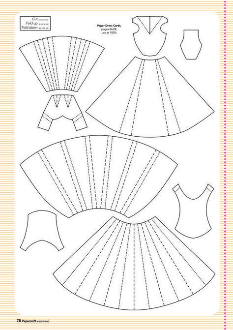 Как делать платье для открытки