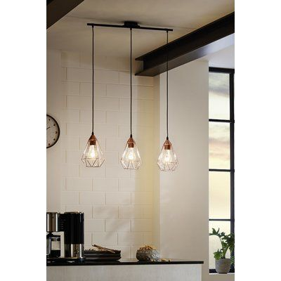 Zipcode Design Lineare Pendelleuchte 3 Flammig Freya Wayfair Co Uk In 2020 Hanging Lights Kitchen Kitchen Ceiling Lights Kitchen Lighting Fixtures