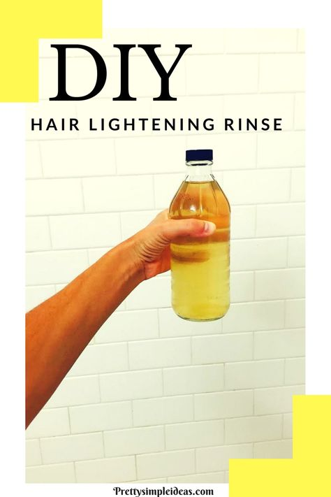 Diy hair lightening rinse