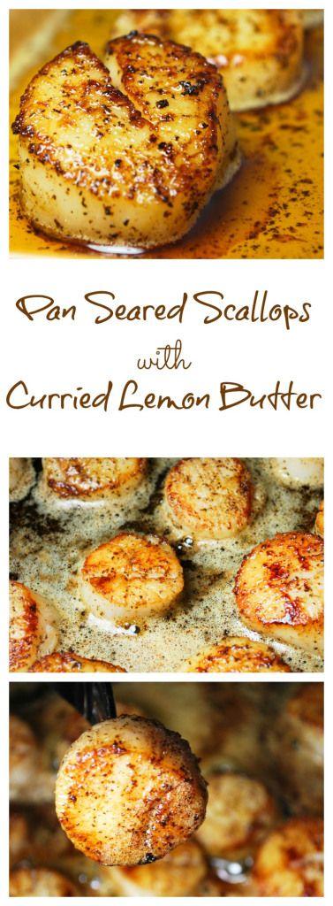 Pan Seared Scallops with Curried Lemon Butter   #paleo #grainfree #glutenfree