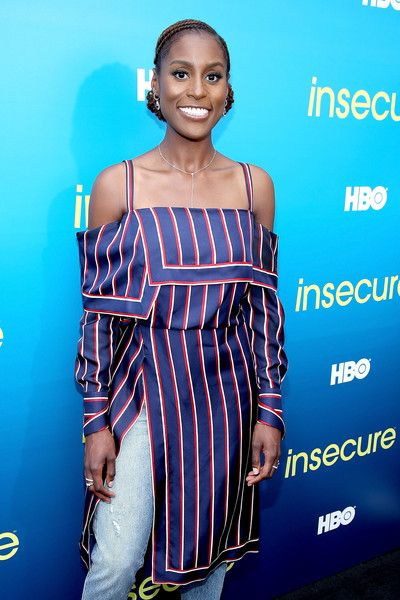 Actress Issa Rae attends a block party celebrating HBO's new season of 'Insecure.'