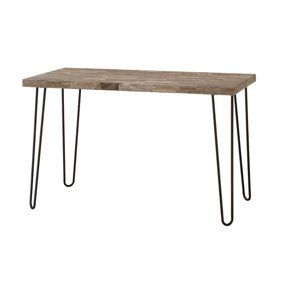 Mainstays Hairpin Writing Desk Multiple Finishes Walmart Com Rustic Design Modern Rustic Design Rustic Style Decor