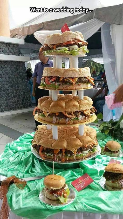 Why Get a Cake When You Can Get a Cheeseburger Tower
