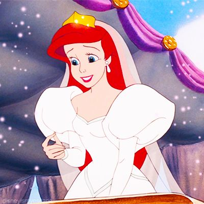 the little mermaid ariel in her wedding dress to wed eric tv and