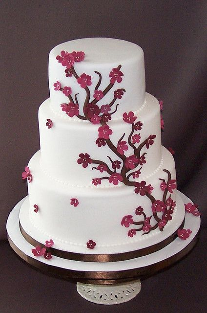 Cherry Blossom Cake not my main choice but can draw ideas from this