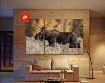 Moose Canvas Wall Art Moose Wall Decoration Moose Canvas Wall Art Art Moose Large Canvas Wall Art Wall Decor Large Canvas Wall Art Canvas Wall Art Art