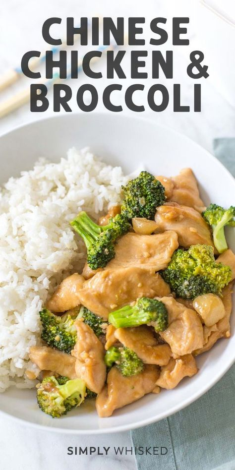 Chinese Chicken and Broccoli *Better than Takeout* - Simply Whisked#better #broccoli #chicken #chinese #simply #takeout #whisked