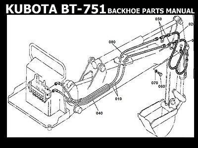 Advertisement Ebay Kubota Bt751 Backhoe Parts Manuals For Bt 751back Hoe Tractor Service Repair In 2020 Backhoe Kubota Tractors