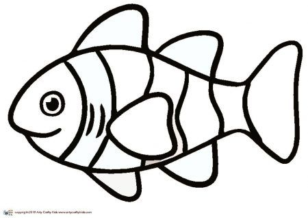 clown fish outline arty crafty kids fish outline fish drawing outline fish coloring page www pinterest co kr