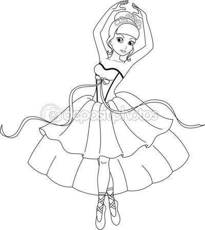 Pagina De Bailarina Para Colorir Ilustracao De Stock 43384195