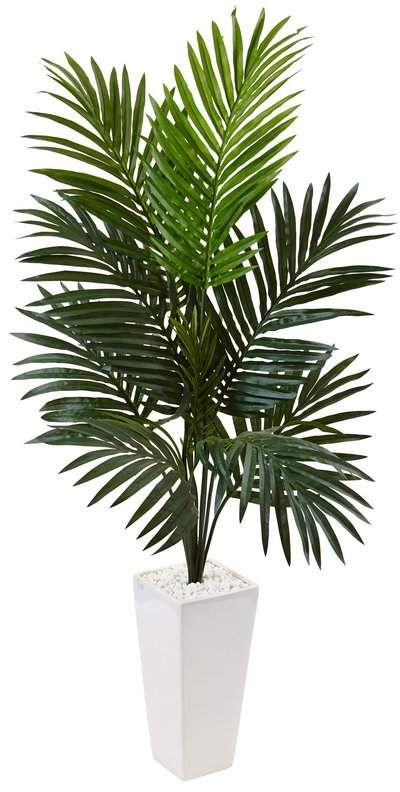 39 Artificial Palm Tree In Planter Palm Tree Plant Artificial Tree House Plants Decor