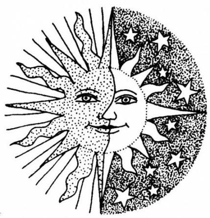 Free Printable Sun And Moon Coloring Pages