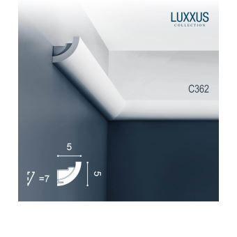 Cimaise Corniche Moulure Orac Decor C362 LUXXUS pour /éclairage indirect D/écoration de stuc Profil d/écoratif 2 m