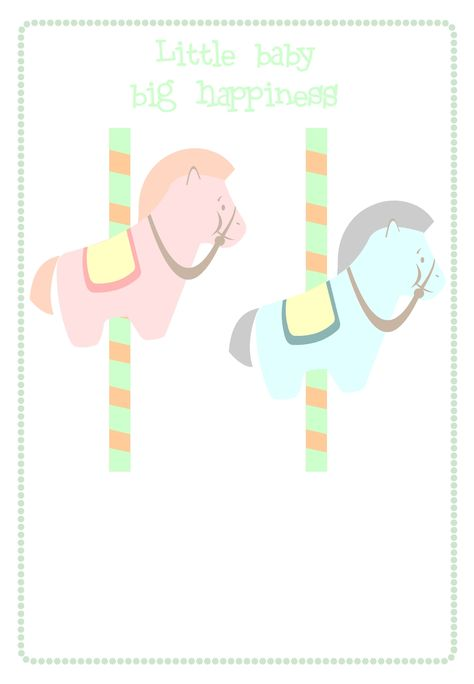 Baby Shower #Invitation Free #Printable Little Baby Big Happiness Invitation