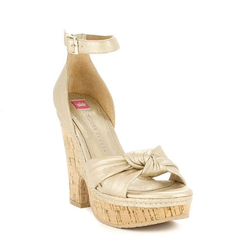 1fff9a88e616 Josefina Champagne Leather Wedge This wedge was made for dancing! Inspired  by the style and