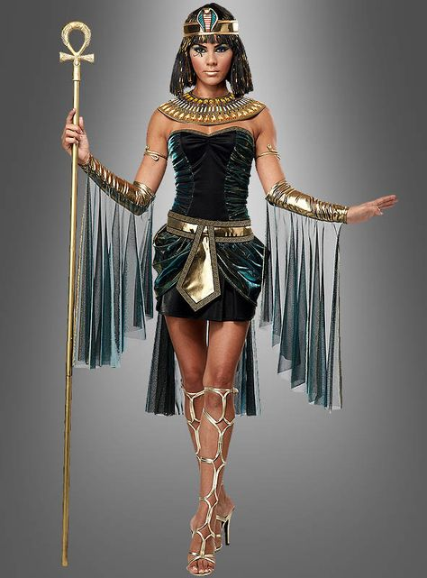 Cleopatra costume for carnival - simply sexy Once you walk like an Egyptian, that is the dream of many ladies. But not in any Cleopatra costume, but the goddess Isis himself.