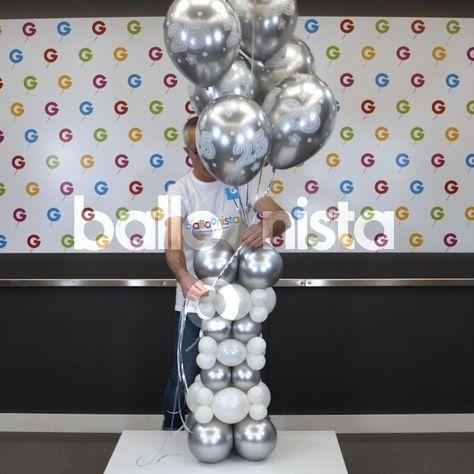 Simple Birthday Decorations, Birthday Balloon Decorations, Diy Party Decorations, Birthday Balloons, Balloon Columns, Balloon Arch, Balloon Ideas, The Balloon, Balloon Crafts