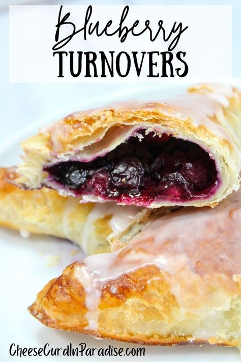 My Blueberry Turnover is a delicious addition to the breakfast table. Fresh blueberries baked in puff pastry and glazed. #summedessertsweek
