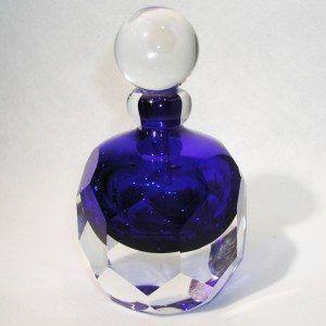 Aqua blue perfume bottle by Jane