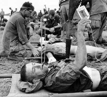 Lieutenant Colonel Weise was placed with the other wounded at the river for medical evacuation on May 2, 1968. #VietnamWar Source - William Weise / Noble Warrior