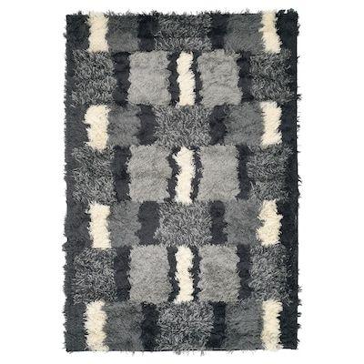 Holmstrup Rug Handmade Gray 5 3 X7 7 En 2020 Tapis Poil Long Tapis Laine Et Tapis