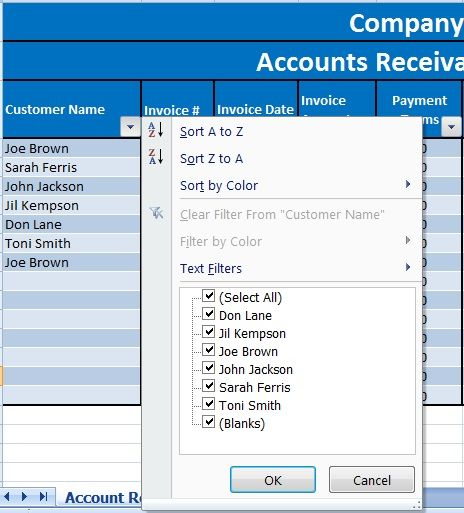 Download Accounts Receivable With Aging Excel Template Excel