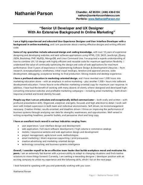 Ecommerce Developer Resume Format In 2020