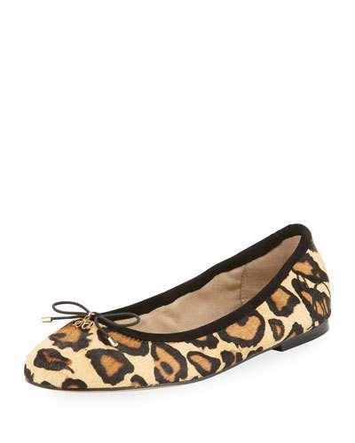 Felicia Leopard Print Ballet Flats saHu4